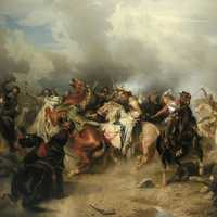 Death of Gustav II Adolf at Battle of Lutzen