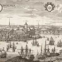 Engraving of Stockholm in 1693