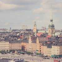 A great cityscape of Stockholm, Sweden