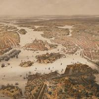Panorama over Stockholm in 1868