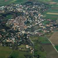 Aerial view of Orbe, Switzerland