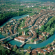 Aerial View of the Old City in Bern, Switzerland