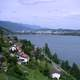 Landscape of Lake Biel in Switzerland