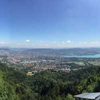Overlook of Zurich in Switzerland