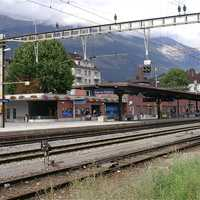 Sierre railway station in Switzerland
