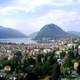View on Lake Lugano and Monte San Salvatore in Switzerland