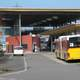 Zollikofen train station with Buses in Switzerland
