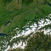 NASA Satellite image of the Swiss Alps
