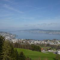 View of Lake Zurich and the City