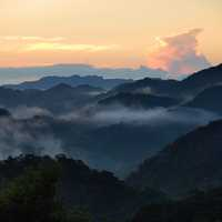 Dawn over the Mountains in Taiwan