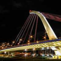 Dazhi Bridge in Taipei Taiwan, at night
