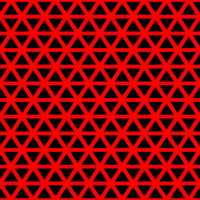 Black Triangles with Red Lines