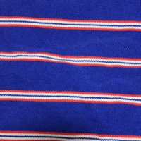 Blue with red and white stripes pattern