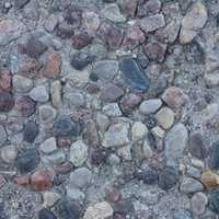 Ground pebble texture