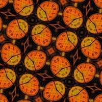 Oval clocks pattern