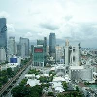 Skyline and City View of Bangkok, Thailand