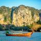 Sailing in the landscape of Thailand on the River