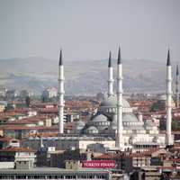 Cathedral and architecture in cityscape in Ankara, Turkey