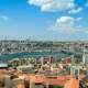 Cityscape and buildings under the blue sky in Istanbul, Turkey