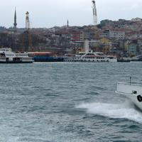 Ferry ride on the bay in Istanbul, Turkey