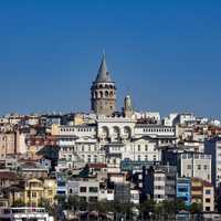 Galata Tower in Istanbul and city