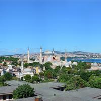 Panoramic View of the Cityscape of Istanbul, Turkey