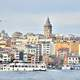 Skyline with buildings and Cityscape in Istanbul, Turkey