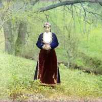 Armenian woman in national costume in 1910 in Turkey
