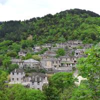 Old stone village on the Mountainside