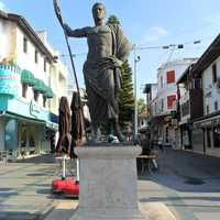 Statue of Attalus II in the city in Antalya, Turkey