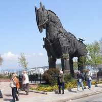 Trojan Horse Prop in Canakkale, Turkey