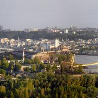 Panoramic of the landscape of the city of Kiev, Ukraine