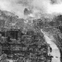 Ruins of Kiev during World War 2 in Ukraine