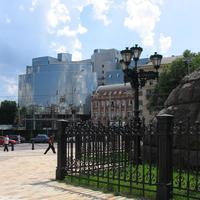 St. Sophia's square with buildings in Kiev, Ukraine