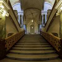 Front Stairs of the Odessa Opera Theatre in Ukraine