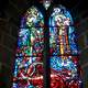 Window Pane Art in the Cathedral in Odessa, Ukraine