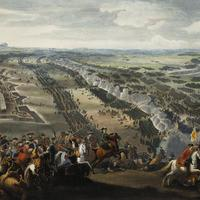 Battle of Poltava in 1709 in Ukraine