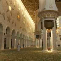 Inside the Abu Dhabi Mosque in United Arab Emirates - UAE