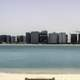 Skyline from across the water of Abu Dhabi, United Arab Emirates, UAE