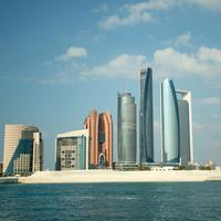 Skyscrapers and skyline of Abu Dhabi in United Arab Emirates, UAE