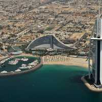 Dubai Cityscape with Burj Al Arab Jumeirah in the United Arab Emirates - UAE