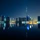 Night Skyline in Dubai, United Arab Emirates, UAE