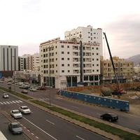 Building construction going on at Fujairah in the United Arab Emirates