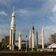 Historic Rockets at the NASA Park in Huntsville, Alabama