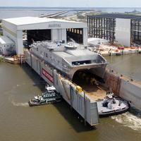 USNS Spearhead coming out onto the River, Alabama