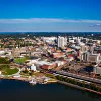 Birds-eye view of the cityscape of Montgomery, Alabama