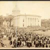 Montgomery, Alabama Capital Grounds Flag Dedication in 1918