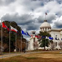 State Capital under the Clouds in Montgomery, Alabama