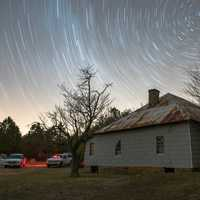 Star Trails above the house in Alabama