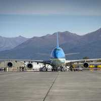 Air Force One in Anchorage Airport, Alaska